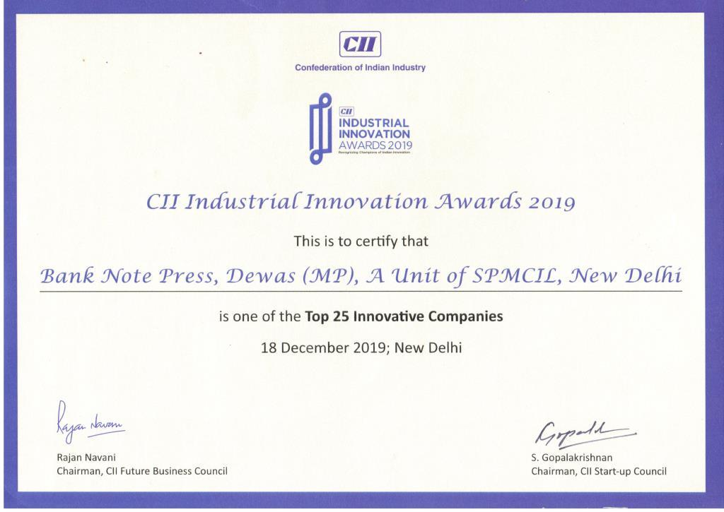 CII Innovation Award 2019