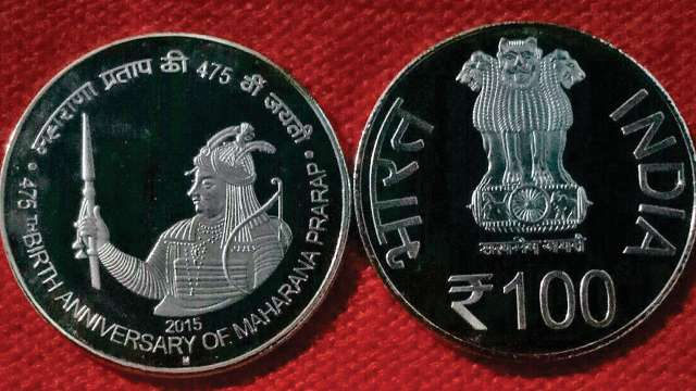 Rs.100/- & Rs.10/- QA 475TH BIRTH ANNIVERSARY OF MAHARANA PRATAP -QA RS.100 & RS.10